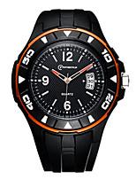 Men's Sport Watch Quartz Calendar Water Resistant / Water Proof Noctilucent Rubber Band Black