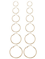 Women's Earring Back Hoop Earrings Earrings Set Geometric Circle Fashion Punk Euramerican Ferroalloy Metallic Alloy Circle Geometric