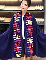Wool Shawl Scarf Geometry Double-sided Large Bohemia Women's Thickening Lengthening Scarves Long Rectangle Winter Warm Lady's Valentine Christmas Gift
