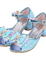 Girls' Flats Comfort Flower Girl Shoes Paillette Summer Fall Casual Dress Comfort Flower Girl Shoes Sequin Buckle Flat HeelBlushing Pink