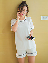 Women's Suits Nightwear,Sports Solid-Thin