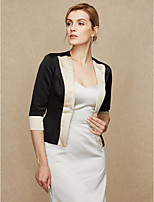 Women's Wrap Coats/Jackets Satin Wedding Party/ Evening Split Joint