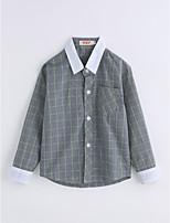 Boys' Lattice Shirt,Cotton Spring/Fall Long Sleeve