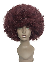 Capless Afro Short Wig Kinky Curly Synthetic Halloween Clown Costume Wig
