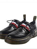 Для женщин Мокасины и Свитер Удобная обувь Натуральная кожа Весна Повседневные Удобная обувь Белый Черный На плоской подошве