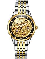 Per uomo orologio meccanico Carica automatica Acciaio inossidabile Banda Oro
