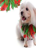 Cachorro Gravata/Gravata Borboleta Roupas para Cães Dia Das Bruxas Natal Natal Vermelho Arco-Íris