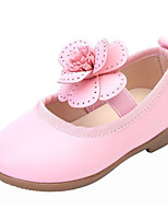 Girls' Flats First Walkers Leatherette Spring Fall Casual Walking First Walkers Magic Tape Low Heel Blushing Pink Black White Flat