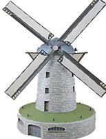Пазлы Набор для творчества 3D пазлы Строительные блоки Игрушки своими руками Ветряная мельница Плотная бумага