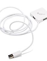 4 порта USB 2.0 высокоскоростной концентратор 480mbps square