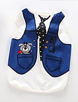 Собака Плащи Толстовка Одежда для собак Для вечеринки На каждый день Сохраняет тепло Носки детские Синий Светло-синий
