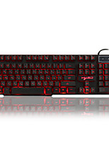 Russian / English 3 Color Backlight Gaming Keyboard Teclado Gamer Floating LED Backlit USB with Similar Mechanical Feel