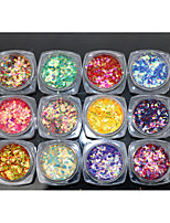 12PCS Nail Art Fish Powder  The Diamond Sequins 2g
