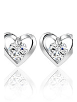 Fashion Elegant Romantic Flower Heart Crystal Stud Earrings Alloy Silver Gold Color Design Zircon Earrings Wedding Jewelry For Women Bridal Accessorie