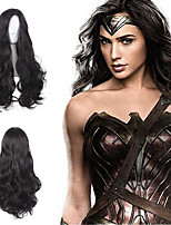 Diana Prince Cosplay Wig Halloween Batman v Superman Dawn of Justice Custome Wig Black Long Wave Sexy Beauty Heat Resistant Capless Synthetic Wig