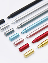 Metallic Multicolor For School Supplies Office Supplies Gel Pen 1PC(Red is the red refillOther is the Balck Refill)