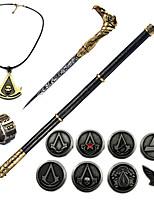 Inspiré par Assassin Ezio Manga Accessoires de Cosplay Collier Broche Bague PVC Chrome
