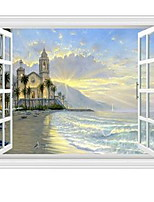 Paisagem Adesivos de Parede Autocolantes 3D para Parede Autocolantes de Parede Decorativos Material Decoração para casa Decalque