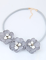 Women's Choker Necklaces Flower Fabric Alloy Euramerican Fashion Jewelry Daily Casual 1pc
