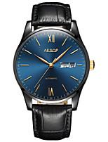 Per uomo Orologio alla moda orologio meccanico Carica automatica Resistente all'acqua PU Banda Nero Argento Marrone