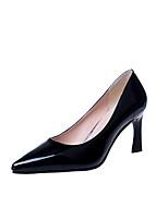 Mujer Tacones Confort Zapatos formales PU Otoño Casual Vestido Paseo Confort Zapatos formales Tacón Stiletto Negro Rojo Almendra 5 - 7 cms