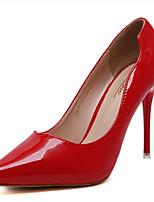 Damen High Heels Fersenriemen PU Frühling Normal Fersenriemen Weiß Schwarz Rot 7,5 - 9,5 cm