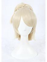 Cosplay Wiig Final Fantasy XV Lunafreya Nox Fleuret Wig 14inch Short Beige Ponytail Anime Hair Wig