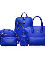 Donna sacchetto regola PU (Poliuretano) Per tutte le stagioni Serata/evento Formale Borchie Cerniera Cerniera Blu Nero Viola Giallo