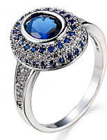 Ring Settings Ring Band Rings Women's Euramerican Luxury Elegant Creative Zircon Rhinestone Oval Wedding Birthday Party  Movie Gift Jewelry