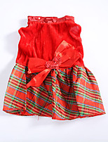 Dog Dress Dog Clothes Christmas Hearts Ruby