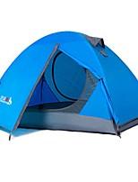 2 personnes Tente Double Tente pliable Une pièce Tente de camping 2000-3000 mm Aluminium Térylène Etanche Résistant à la poussière Pliable