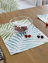 American Pastoral Plant Leaves Thicker Cotton And Linen Table Placemat 32*45cm
