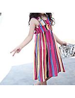 Girl's Solid Dress Short Sleeve