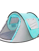 3-4 persons Camp Bed Single Automatic Tent One Room Camping Tent 1000-1500 mm PU Wateproof Warm Tent Sun Protection-Camping / Hiking-