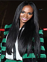 Natural Black Soft Brazilian Human Hair Silk Straight Glueless Full Lace For Black Women Wigs No Shedding 8-26 Inch