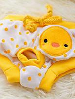 Собака Брюки Одежда для собак На каждый день Любовь Желтый Розовый Светло-синий