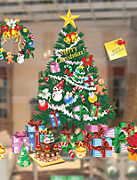 Window Film Window Decals Style Christmas Tree Gift PVC Window Film