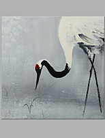 IARTS® Hand Painted Modern Abstract Red Crowned Crane Oil Painting On Canvas with Stretched Frame Wall Art For Home Decoration Ready To Hang