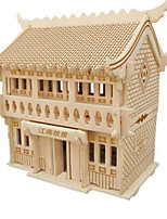 Jigsaw Puzzles DIY KIT 3D Puzzles Building Blocks DIY Toys Architecture Natural Wood