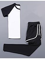 Damen Kurzarm Laufen KompressionskleidungFitness, Laufen & Yoga Feuchtigkeitsabsorbierend Verbrannte Kalorien Hilft beim Abnehmen Schnell