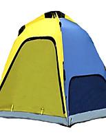3-4 personnes Tente Unique Tente automatique Une pièce Tente de camping 2000-3000 mm Fibre de carbone TérylèneVentilation Résistant à la