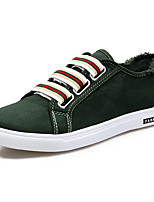 Men's Sneakers Comfort Spring Fall PU Outdoor Gray Army Green Blue Flat