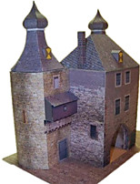 Quebra-cabeças Kit Faça Você Mesmo Quebra-Cabeças 3D Blocos de construção Brinquedos Faça Você Mesmo Castelo
