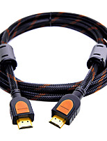 SAMZHE       SM-8015  HDMI 2.0 Cable HDMI 2.0 to HDMI 2.0 Cable Male - Male Gold-Plated Copper 1.5m(5Ft)