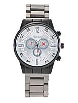 XU Men's Luxurious Elegant Quartz Alloy Steel Belt Wrist Watch Dress Watch