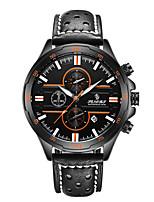 Муж. Спортивные часы Модные часы Японский Кварцевый Календарь Защита от влаги Натуральная кожа Группа Черный