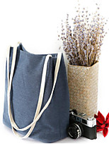 Women Shoulder Bag Linen All Seasons Casual Outdoor Round Without Zipper Green Blue