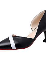 Da donna Sandali Comoda Gomma Estate Footing Comoda Fibbia Heel di blocco Bianco Nero Beige Meno di 2,5 cm