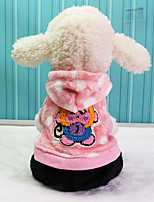 Dog Hoodie Dog Clothes Keep Warm Cartoon