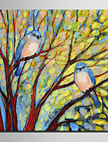 Mini Size E-HOME Oil painting Modern Birds On A Branch Pure Hand Draw Frameless Decorative Painting